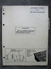 John Deere 205 Corn head Parts catalog Manual 45 55 Combine ORIGINAL