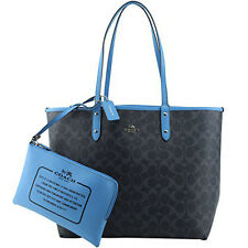 Coach Bag F36658 Signature Reversible PVC City Tote Denim Azure Agsbeagle COD