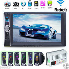 "Double 2 Din 7"" Touchscreen In Dash Bluetooth Stereo Car CD DVD MP3 Radio Player"