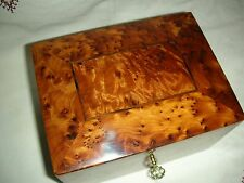 Jewerly Box Thuya Wood Locked With key