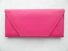 Pink Ladies ENVELOPE Purse Wallet Clutch PU Leather Pocket Lady Hand Bag NEW