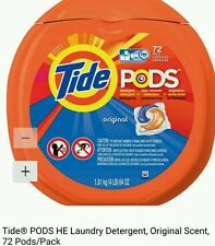 Tide Pods original Scent Laundry Detergent Pacs 72 ct