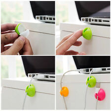 10 PCS Cable Drop Clip Desk Tidy Organiser Wire Cord Lead USB Charger Holder New