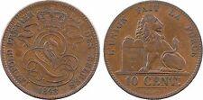 Belgique, Léopold Ier, 10 centimes, 1848 sur 38, point, variété, RARE - 64