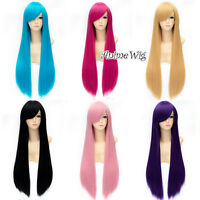 80CM Straight Heat Resistant Long Anime Basic Cosplay Hair Halloween Party Wig