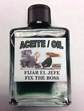 MYSTICAL / SPIRITUAL OIL (ACEITE) FOR SPELLS & ANOINTING 1/2 OZ FIX THE BOSS