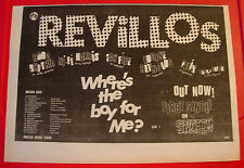 "Revillos Where's The Boy For Me? Vintage ORIG 1979 Press/Magazine ADVERT 13""x 9"""