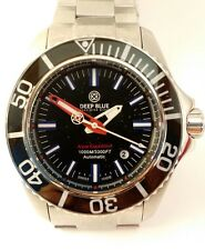 Deep Blue Aqua Expedition Dive Watch Swiss Automatic Sapphire Crystal 1000M