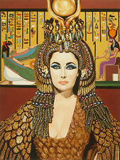 Elizabeth Taylor as Cleopatra by Karl Black 18x12 Art Print Poster Wall Decor