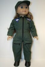 "ARMY Milatary Flight Pilot Jumpsuit Uniform Clothes For 18"" American Girl (Debs)"