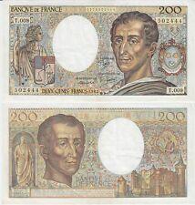 Gertbrolen  200 Francs MONTESQUIEU  Année 1982  T .009 Billet numéro 0175502444