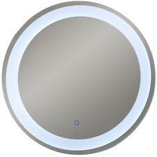 LED Illuminated 70cm Circular Wall Mirror Light with Demister Dimmer - SP1213