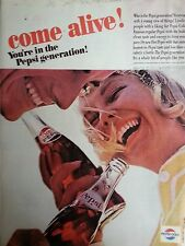 1961 Pepsi Cola Couple Drinking Pepsi Bottle Tobogan Original Print Ad