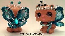 Littlest Pet Shop clothes & accessories blue Fairy LPS outfit 12 lot