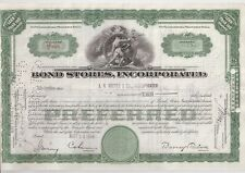 Bond Stores Incorporated.1944 Stock Certificate