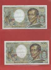 Lot de 2 x 200 FRANCS MONTESQUIEU de  1986 ALPHABETS  P.042  F.043