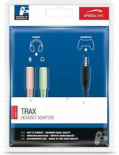 Speedlink TRAX Stereo Headset Y Adapter Doppel Klinkenstecker 3,5 mm D16-665000