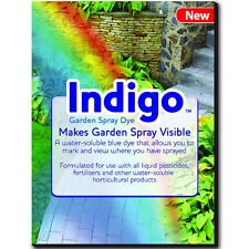 INDIGO GARDEN LAWN CARE TREATMENT SPRAY GRANULE DYE SEE WHERE SPRAYED SOLUBLE