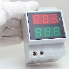 Din Rail AC LED Dual Display Voltmeter Ammeter Voltage Ampere Gauge
