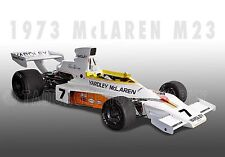 1973 McLaren M23 Formula 1 Grand Prix Vintage Classic Race Car Photo  CA-0550