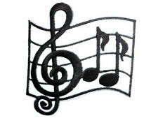 Music Note Musical Rock N Roll Iron On Embroider Jeans Applique Badge Patch 3""