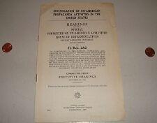 ORIGINAL WWII 1944 Special Committee Unamerican Propaganda Activities Report