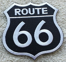 "ROUTE 66 PATCH 3"" Cloth Badge/Emblem/Insignia Biker Jacket Bag Iron Sew On USA"