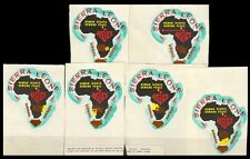SIERRA LEONE 1970-6 Different-Map of Africa-Surcharged odd Shaped-Airmail-MNH