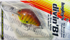 Bagley DB1-DC9 Fishing Lure * Divng B 1 * Vintage Bait * Collectible