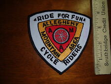ALLEGHENY MOUNTAIN AREA CYCLE RIDERS PATCH    BYCYCLE PATCH     BX M 138