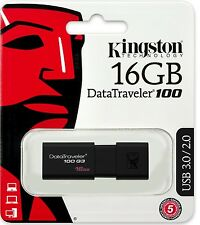 Kingston 16GB USB DataTraveler 100 G3 16G USB 3.0 Flash Drive DT100G3/16GB