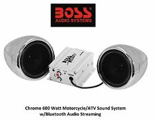 Custom Chrome Audio Sound System Speakers Bluetooth Capable Kawasaki Stream Pair