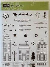 Stampin Up HOLIDAY HOME photopolymer stamps NEW Christmas Halloween House