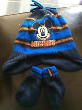 Mickey Mouse Hat And Glove Set 6-12 Months