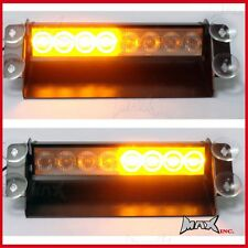 3 Flash Mode Amber Orange Emergency Flashing Strobe LED Safety Warning Light