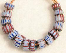 15 Antique Venetian AWALE 4 Layer CHEVRON Glass Trade Beads