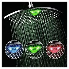 AQUAFAN DREAMSPA 12 inch All-Chrome Rainfall-LED-Shower-Head with Color-Changing