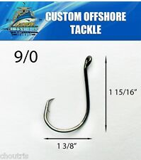 10 PACK Size 9/0 Custom Offshore Tackle Offset Circle Fishing Hooks 7384