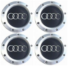 4 Pieces Black Wheel Center Hub Cap 8D0601165K For AUDI A2 A3 A4 A6 S6 A8 TT RS4