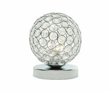 Modern Chrome and Crystal Touch Table or Bedside Lamp Lights
