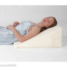 "12"" Foam Bed Wedge Pillow w/Cover - Free Shipping"