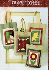 """Farmyard Creations Craft Sewing Pattern """"Towel Totes"""" Bags from Kitchen Towels."""
