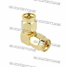 ADATTATORE CONNETTORE SMA MALE TO SMA MALE ANGLE ADAPTER CONNECTOR COAXIAL 90°