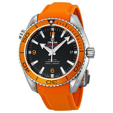 Omega Seamaster Planet Ocean Automatic Black Dial Orange Rubber Mens Watch