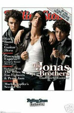 "THE JONAS BROTHERS ROLLING STONE COVER POSTER -GOD! GIRLS! GUITARS! 24""X 36""-NEW"