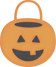 QuicKutz Lifestyle Crafts 4x4 Single Die TRICK-OR-TREAT BUCKET Candy REV-0061