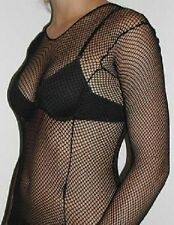 Fishnet Lace Crochet Stripe Long Sleeve Tops OSFA  Dance Gothic Punk Emo Color