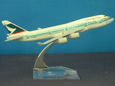 New CATHAY PACIFIC B-747 Passenger Airplane Plane Aircraft Metal Diecast Model C