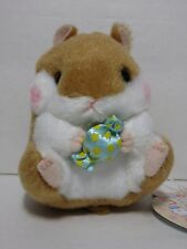 "Amuse ""Sweets"" Coroham Coron Brown Hamster Candy 12cm Plush Alpacasso San-X Cute"