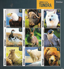 Mustique Grenadines St Vincent 2014 MNH Animals of Tundra 9v M/S Rossica Birds